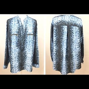 Michael Kors Womens Blouse Roll Up Sleeves Sz18W